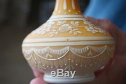 Lace Art Cameo 7 Glass Vase Circa 1900 Excellent Condition