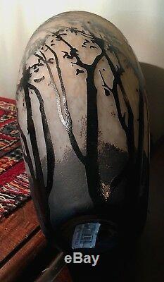 Large 15 Nouveau/Deco Intaglio/Cameo Vase Muller Freres Style