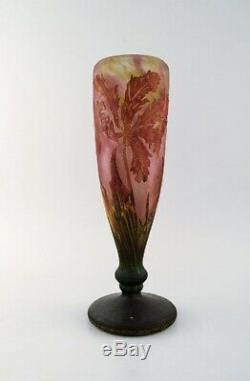 Large and impressive Daum Nancy art nouveau cameo vase, 1905