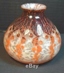 Le Verre Francais Art Deco Cameo Glass Vase
