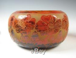 Le Verre Francais Cameo Art Glass Vase Signed Charder