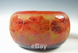 Le Verre Francais Cameo Art Glass Vase Signed Charder