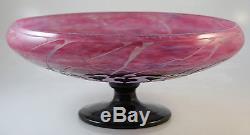 Le Verre Francais Cameo Glass Centerpiece