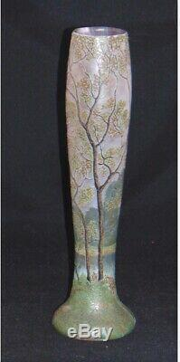 Legras French Cameo Art Glass Vase