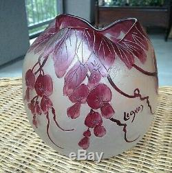 Legras French Cameo Art Nouveau Glass Vase 6.25 VGC