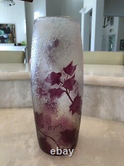 Legras Rubis French Cameo Glass 11.5 Vase