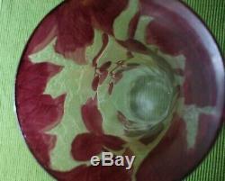 Legras Signed French Art Nouveau Acid Cut Cameo Vase