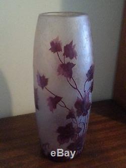 Legras Vase, Original Rubies Cameo Art Glass. Signed, excellent condition