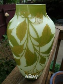 Loetz Cameo Glass Vase Signed Loetz in Cameo & Acid Stamp