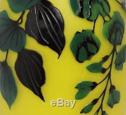Lötz Jugendstil Cameo Glas Vase Art Nouveau Original Bohemian Loetz Glass