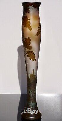 Monumental Loetz Richard Art Nouveau Cameo Glass Vase