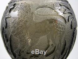 Moser Hussman Cameo Glass Vase