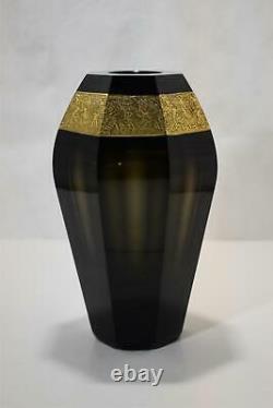 Moser Karlsbad Amethyst Cameo Vase c. 1920
