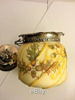 Mount Washington Crown Milano Glass Jar