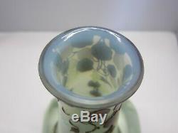 Nice Devez Cameo Art Glass Vase, Signed On Side