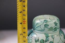OKRA CAMEO GLASS JAR SIGNED Trial pattern AC5