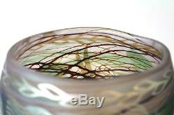 Orient Flume EARLY 1977 Kathy Orme Cameo Vase Art Glass Fish Swimming Seaweed