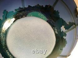 Original Kelsey Murphy/Pilgrim Cameo Glass World Vase 12 Diam, Signed & dated