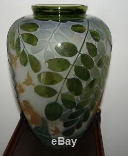 PILGRIM CAMEO GLASS VASE ART GLASS KELSEY MURPHY-reduced