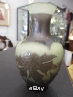 Paul Nicholas Cameo vase D' arengtal, cross of Lorraine (Gallé connection)