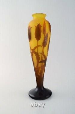 Paul Nicolas / Nancy for D'argental, France. Large art nouveau vase, cameo glass