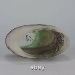 Paysage Pluie Cameo Glass Vase by Daum Frères Circa 1900