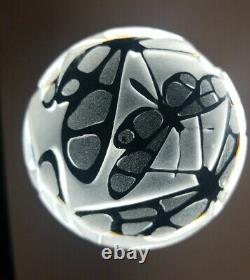 Pilgrim Cameo Kelsey Murphy Paperweight with Dragonflies 1993, 3X4