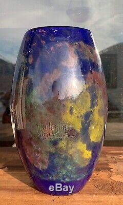RARE MULLER FRERES FRENCH ART DECO GLASS VASE c. 1920s antique