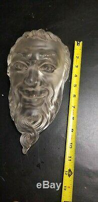Rare Antique Cameo Glass Devil Head Lalique Halloween