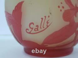 Rare French Emile Galle cameo glass vase