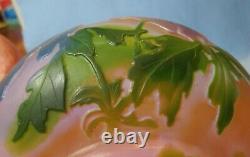 Rare HARRACH 5-color CAMEO GLASS Bowl Pate de Verde Art Deco Antique Glass