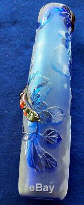 Rare! Kelsey Murphy Cameo Glass Vase (garden Of Eden)