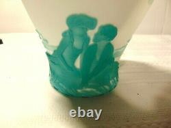 Rare Kelsey Murphy Fenton Pilgrim Cameo Vase Sisters Bond