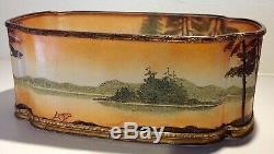 Rare Legras Cameo Glass & Ormolu Art Nouveau Jardiniere / Planter