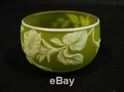 Rare Webb English Cameo Art Glass Master Salt Cellar