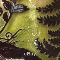 Rare and Important Monumental Emile Galle Cameo Glass Vase, France, Circa 1900