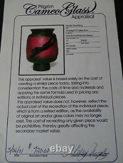 SALE $279,99 KELSEY MURPHY SIGNED CAMEO CARVED PILGRIM GLASS incl. APPRAISAL