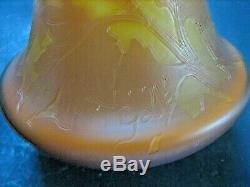 Signed Galle Large 18 3 Color Cameo High Relief Vase