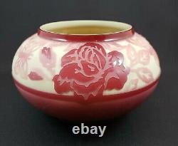 Signed & Numbered Kelsey Murphy Cameo Pilgrim Glass Roses & Butterflies 2000
