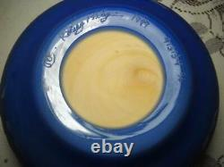 Signed and Numbered Kelsey Murphy Cameo Pilgrim Glass Dolphin Bowl 6 1/2