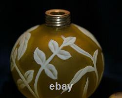 Small Webb English Cameo Art Glass Perfume Bottle Nice Please LOOK