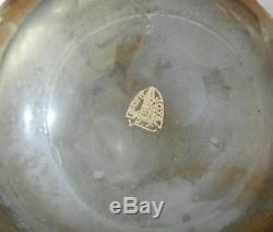 Stunning Mont Joye Cameo Art Glass Enameled Ice Vase 15.5h