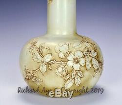 Thomas Webb And Sons Ivory Glass Cameo Vase Ca. 1887