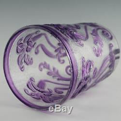 Thomas Webb Violet Cameo Fleur Vase c1933