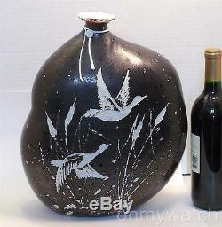 ULTRARARE Murano SIGNED Licio ZANETTi Vase 13 Vtg Inciso CAMEO ArT Glass Italy