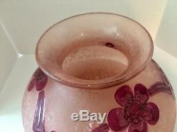 VINTAGE Legras 10 French Art Nouveau Cameo Glass Vase