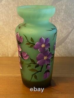 Vase Daum Nancy Tip Vintage Glass Cameo Art Signed Europe