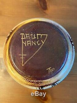 Vase Daum Nancy Vintage Glass Cameo Art Signed Europe