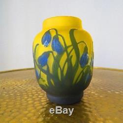 Vase Gallé Tip, Cameotechnik, Galle Art, florales Dekor signiert, Cameo Glass