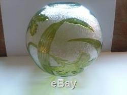 Very Rare Baccarat Cameo Art Glass Lilies Large Banquet Ball Lamp Shade Mint